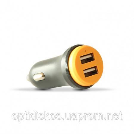 Двойной USB адаптер от прикуривателя авто, Havit HV-UC515, 2,4А