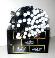"""Гирлянда светодиодная """"шарики""""(100 диодов,черная нить), фото 1"""