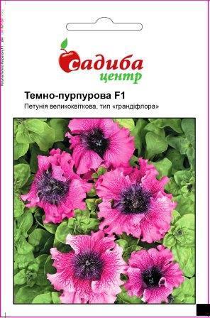 Петунія великоквіткова Темно-пурпурова F1, тип грандіфлора (Чехія) ТМ Садиба Центр