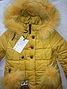 Детский зимний пуховик на девочку Смайл Размеры 28- 32, фото 4