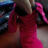 Текстильні чобітки  для дівчат