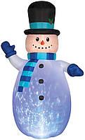 Надувная Новогодняя Фигура Снеговик 180 см, декор на улицу Новый год