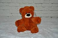 Плюшевый медведь Бублик 43 см коричневый