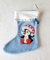 Новогодний сапожок пингвин для подарков на новогодние праздники