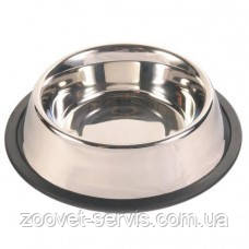 Миска металлическая с резинкой 0,9 л Trixie 24853