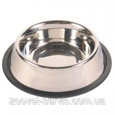 Миска металлическая с резинкой 0,9 л Trixie 24853, фото 2