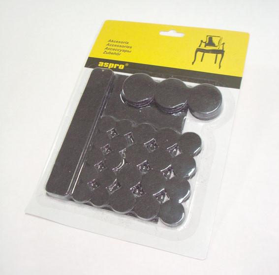 Войлочные подкладки для мебели (чёрные).