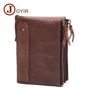 Кожаный кошелек JoyIR Retro  (черний,коричневий,светло-коричневий)