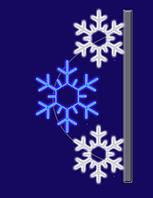 """Кронштейн наопору светодиодный """"Снежный"""", 0.9х1.5м,"""