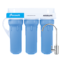 Тройной фильтр для воды под мойку Ecosoft Absolute