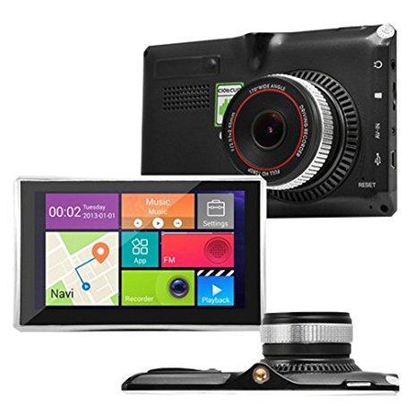 Навігатор GPS + регістратор 5в1 5d X5 DVR IPS 4 ядра+ 8gb+Wi-Fi+Bluetooth+AV+512ddr