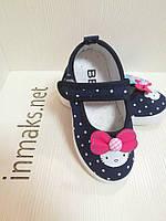Мокасины кеды детские для девочек на липучках, фото 1