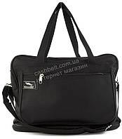 Вместительная мужская текстильная сумка черного цвета с двойным дном WALLABY art. 2070 Украина