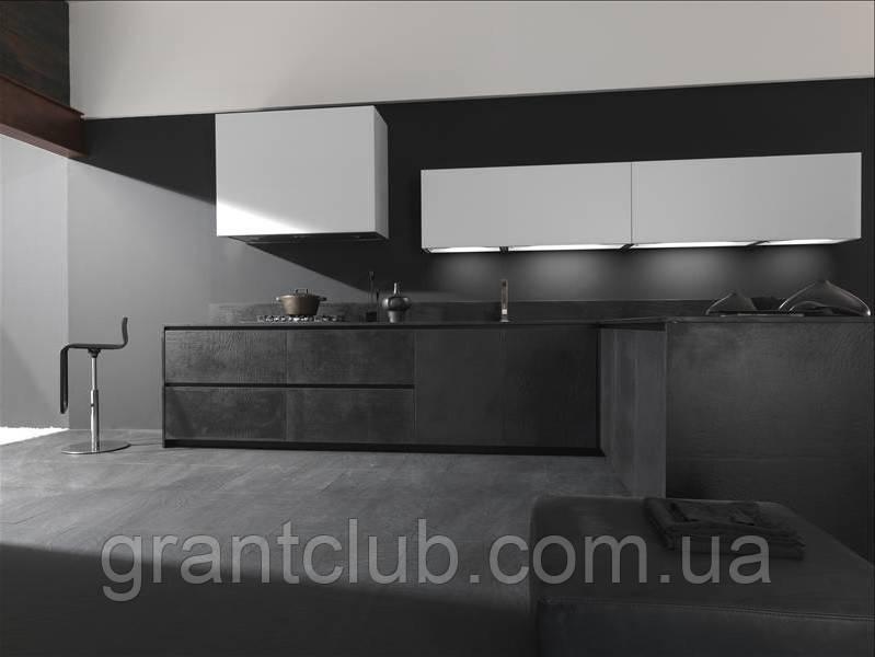 Итальянская современная кухня TWENTY с фасадом из натурального камня, без ручек, фабрика MODULNOVA