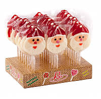Леденцы на палочке Санта (Дед Мороз) 27 шт; 80 г Рокс