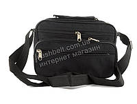 Удобная небольшая мужская сумка с плотной ткани WALLABY art. 2123 черная Украина, фото 1