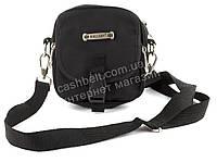 Удобная маленькая мужская сумка с плотной ткани WALLABY art. 3161 черная Украина