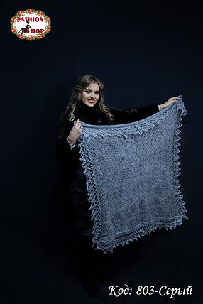Оренбургский пуховой платок Сильвия 110см, фото 2