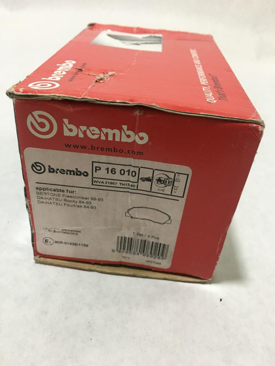 Тормозные колодки BREMBO P16 010 SEAT, Volkswagen