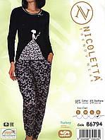 Пижама женская   трикотажная с брюками Nicoletta 86794, фото 1