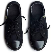 Кеды хлопок OLDCOM CLASSIC Черные на черной подошве, фото 3