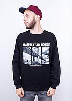 Свитшот теплый Liberty Manhattan Bridge Black