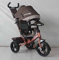 Детский трехколесный велосипед Сrosser One T1 AIR, коричнево-бежевый