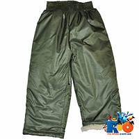 Детские зимние болоневые брюки на овчине,  для детей ростом 92-116 см (5 ед в уп)