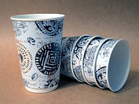 """Бумажный стакан 330мл """"Греческий"""" двухслойный"""