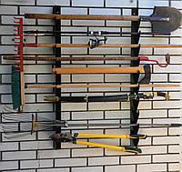 Полка металлическая для садового инструмента на 9 ед.