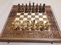 Шахматы шашки Бой за корону деревянные