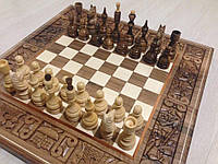 Шахматы шашки Бой за корону деревянные ручная работа