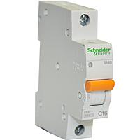 Автоматический выключатель 16А 4,5кА 1 полюс тип C  Домовой ВА63 Schneider Electric, фото 1