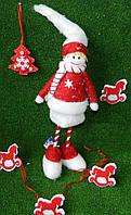Новорічна фігура Снігурочка № NY 27-С19, 41 см Новогодняя фигура