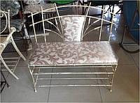 """Кованый диван, лава """"бамбук"""" с мягким сиденьем и мягкой спинкой"""