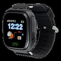Детские телефон-часы с GPS трекером SmartWatch Q90 черные