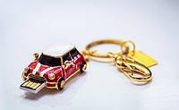 Креативная модная флешка 3 в 1, кулон- ожерелье - флешка в виде авто со стразами Сваровски 8 Гб