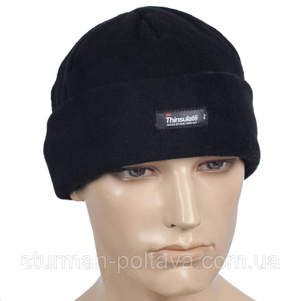 Шапка MFH куртки з утеплювачем 3M™ Thinsulate™ Insulation колір чорний Німеччина