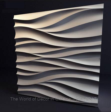 """Гипсовые 3d панели для стен """"Амбровая вуаль"""", 500х500"""