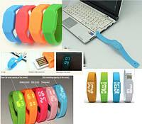 Часы флешка 2 в 1, флешка и креативные модные водонепроницаемые электронные часы с лед подсветкой 8 Гб