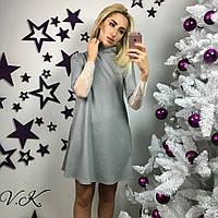 Свободное короткое платье с тонким кружевом 5 цветов