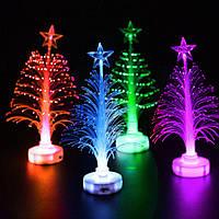 Компактная пластиковая елка с разноцветной подсветкой
