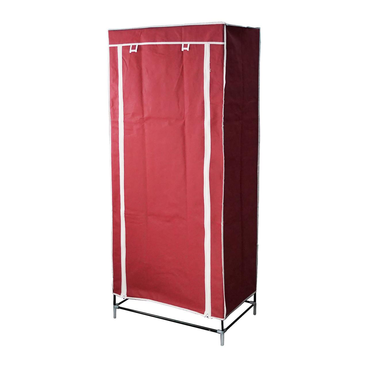 Тканевый шкаф органайзер портативный (1 секция), цвет бордовый