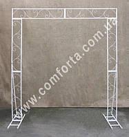 34145 Флора, арка свадебная прямоугольная плоская разборная,  высота ~ 2,3 м, ширина ~ 2,1 м, каркас металличе