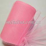 Фатин-сетка, ширина 13 см,  цвет розовый, фото 2