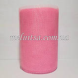 Фатин-сетка, ширина 13 см,  цвет розовый, фото 3