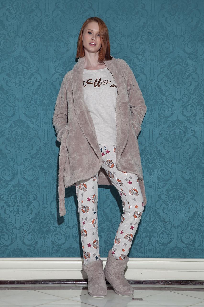Жіночий комплект одягу для дому (піжама та халат) HAYS 17013