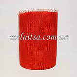 Фатин-сетка, ширина 13 см,  цвет красный, фото 2