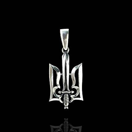 Срібна підвіска Тризуб, фото 2