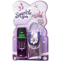 Телефон с сумочкой сиреневый, Sparkle girlz, Funville